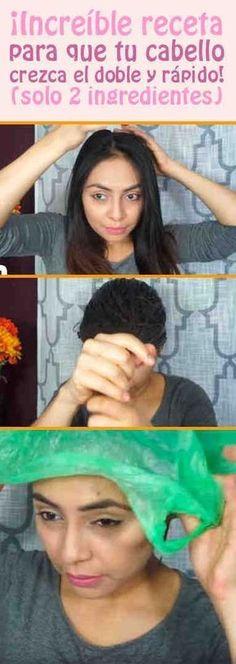 ¡Increíble receta para que tu cabello crezca el doble y rápido! (solo 2 ingredientes) #pelo #cabello #mascarilla