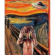 E.T. and The Scream mashup. Art by papertiger16