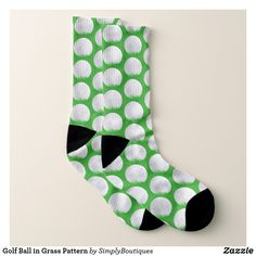 This fun pair of socks is perfect for anyone who loves golf! The socks feature a pattern of golf balls on bright green grass. Size: Large (US Men / US Women Color: Pale Green / Pale Blue / Azure. Nike Socks Women, Golf Green, Green Grass, Grass Pattern, Golf Attire, Cool Socks, Men's Socks, Short Socks, Patterned Socks