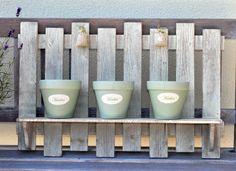 Duży Kwietnik z Trzema Doniczkami w Stylu Prowansalskim / Big Flower with Three pots in Provencal style