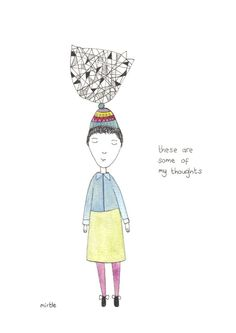 my thoughts illustration by mirtle