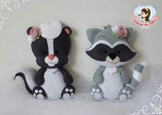 Zorrillo y mapache