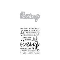 DC212 Blessings Stamp & Cut