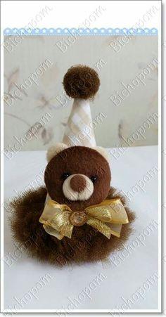 Chapéu  de aniversário | urso pelúcia