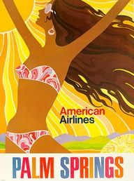 Pan American Airlines Posters | American Airlines Palm Springs #vintage travel poster