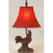 Love rooster lamps!