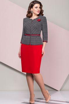 Комплект юбочный Elady 2700 черно-белый с красным
