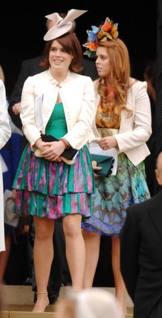 Princess Eugenie and Princess Beatrice and their fascinating fascinators