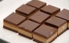 Čokoládové kostky za 20 minut bez pečení | NejRecept.cz Suroviny  Budeme potřebovat: 9 lžicvoda 200 gmoučkový cukr 150 gmleté vlašské ořechy, mandle nebo lískové ořechy 250 gnadrcené sušenky 170 gmáslo 100 ghořká čokoláda trocharum Glazura: 100 gčokoláda na vaření trochaolej