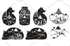 12 wildlife posters by julymilks on @creativemarket