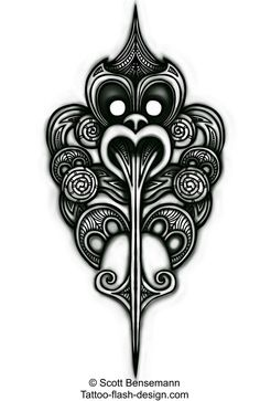 New Zealand Maori Haka inspired tattoo Maori Tattoo Designs, Maori Tattoos, Body Art Tattoos, Tribal Tattoos, Borneo Tattoos, Tiki Tattoo, Doodles Zentangles, Yin Yang, Ta Moko Tattoo