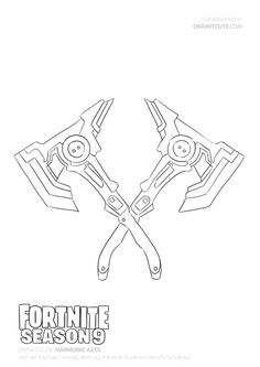 How to draw Harmonic Axes Axe Drawing, Gift Drawing, Drawing Reference, Cute Coloring Pages, Printable Coloring Pages, Coloring Books, Colouring, Cool Art Drawings, Doodle Drawings