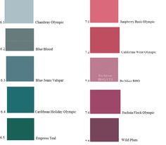 Summer in Seasonal Palettes -lots of color charts and fans follow link-