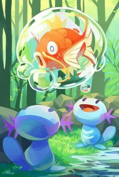 Two Wooper and a Magikarp