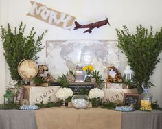 Project Nursery - Travel Safari Baby Shower Decor - Project Nursery