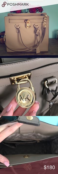 MK purse Excellent condition! Used maybe once. My absolute favorite bag, but I don't use it as much and I'd rather have someone else enjoy it ! Very roomy and stylish. Has a magnetic clasp and gold accents. Offers accepted ONLY through offer button! NO LOWBALL OFFERS PLEASE ! Michael Kors Bags Shoulder Bags