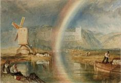 Painting by Turner, which inspired my poem, Windmill and Rainbow