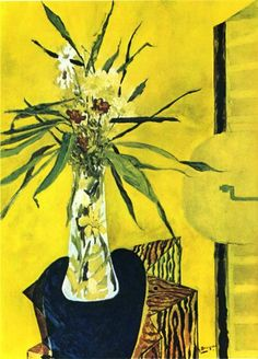 Georges Braque    StillLife With Flowers, 1945- I wouldn't have guessed that Georges Braque painted this- not innovative but interesting