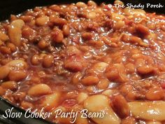 """Slow Cooker Party Beans...best """"baked"""" beans ever!"""
