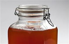 Kombucha is a fermented tea made by adding a culture of bacteria and yeast to a solution of tea, sugar and sometimes fruit juice and other flavourings. Fermented Tea, Fermented Foods, Fruit Juice, Kombucha, Hot Sauce Bottles, New Recipes, Brewing, The Cure, Healthy