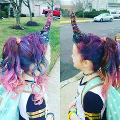 CRAZY HAIR DAY! UNICORN HAIR!