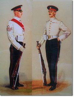 British; The Grenadier Guards, Sergeant & Guardsman, Undress, 1914