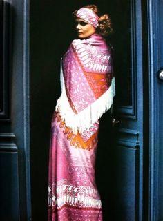 : Léonard Fashion, Vogue Paris May 1971 Twist And Shout, Vogue Paris, Fashion History, Sari, Photo And Video, Vintage, Dresses, Style, Saree