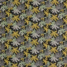 Palm Tree (green) fabric design taken from a patchwork coverlet pieced from various early 19th century printed cottons, 1830-40. Museum no. T.340-1977 Copyright Victoria and Albert Museum
