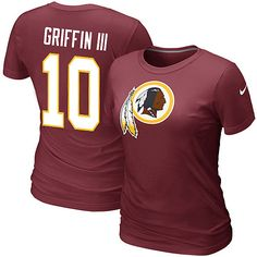 Nike Washington Redskins Women's Robert Griffin III Name and Number T-Shirt - NFLShop.com