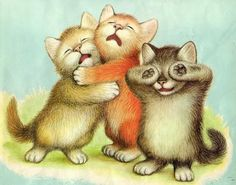 THREE little kittens  Lost their mittens,  And they began to cry | illustration by Garth Williams