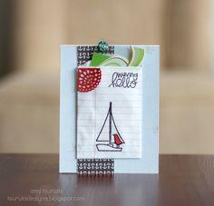 Waving Hello Bitty Bag Gift Card Holder by Amy Tsuruta