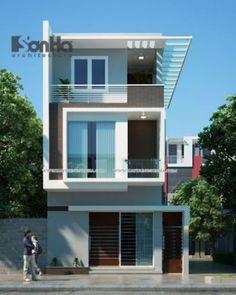 Mẫu thiết kế nhà phố đẹp phong cách hiện đại -> Phối cảnh 8