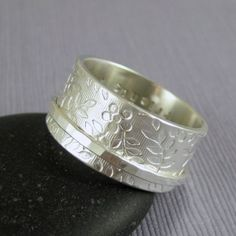 Spinner ring with your inscription   Spring by TwoSilverMoons, $89.00