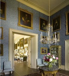 Houghton Hall. Ante - Room, looking into the picture gallery beyond.