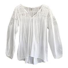 T-Shirt Wamolon Femmes Mousseline de soie Dentelle Croche…