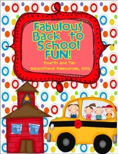 This 50 page packet is full of fun! I've collected all my FAVORITE back to school activities to share with all of you! :) I have used these activit...
