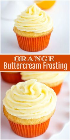easy orange buttercream frosting recipe from recipegirl com easy fresh orange buttercream frosting recipe recipegirl via recipegirl cupcakes Cupcake Recipes, Cupcake Cakes, Dessert Recipes, Icing Recipes, Gourmet Cupcakes, Icing On The Cupcake, Cup Cakes, Orange Buttercream Frosting Recipe, Buttercream Cupcakes