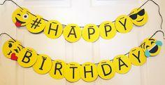 Items similar to Emoji Birthday Banner (English & Español) on Etsy - chiara Diy Birthday Banner, Happy Birthday Banners, Birthday Bash, Birthday Party Invitations, Birthday Party Decorations, Birthday Parties, Emoji Theme Party, Emoji Invitations, Boyfriend Anniversary Gifts