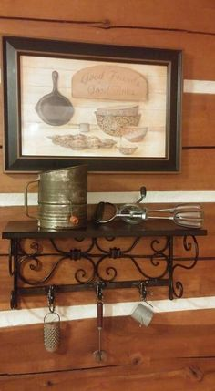Vintage Kitchen utensils, as well as village artifacts! I like the Kitchen Collectibles! Vintage Kitchen Decor, Kitchen Utensils, Decor Ideas, Home Decor, Bebe, Diy Kitchen Appliances, Kitchen Gadgets, Decoration Home, Room Decor