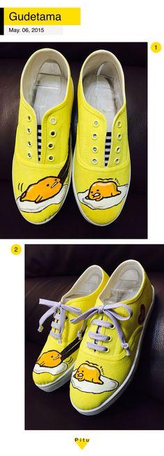 ぐでたま DIY Gudetama shoes