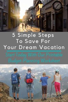 Saving For A Dream Vacation in 2 or 3 Years Free Travel, Travel Deals, Budget Travel, Travel With Kids, Family Travel, Travel Advice, Travel Tips, Work Sheet, Travel Rewards
