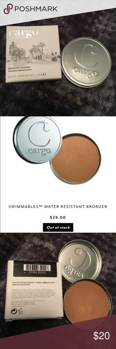 Cargo bronzer Brand new cargo bronzer. Swatched once with a new clean brush, otherwise it's flawless. Currently sold out on the cargo cosmetics website. Cargo Cosmetics Makeup Bronzer