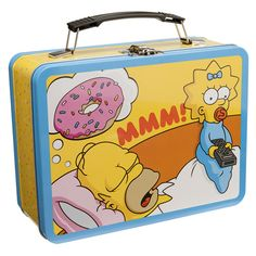 The Simpsons - Homer - Sacrilicious - Large Tin Lunch Box Tote