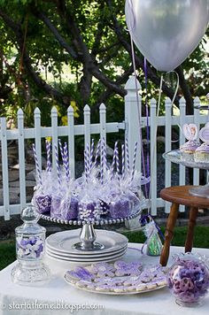 Sofia the First birthday party--dipped marshmallows on paper straws