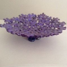 Shades of Purple and Metallic Jigsaw Puzzle Bowl by SJPuzzles, $15.00