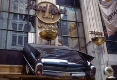 Hard Rock Cafe in NYC - the first Hard Rock cafe we went to.  Love the car!
