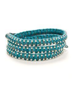 Multicolor Wrap Bracelet by Chan Luu on Gilt