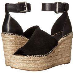 Marc Fisher LTD Adalyn Women's Wedge Shoes (205 AUD) ❤ liked on Polyvore featuring shoes, sandals, open toe espadrilles, espadrille sandals, platform wedge sandals, wedge heel shoes and open toe wedge sandals