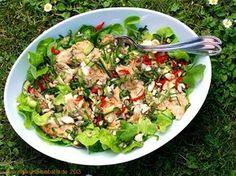 Salat von der Regenbogenforelle mit Thai-Kräutern