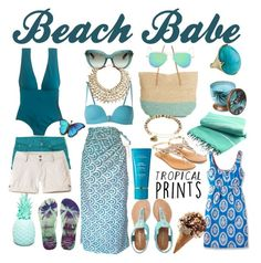 """""""Beach Babe"""" by dualdesigner ❤ liked on Polyvore featuring Dolce&Gabbana, Aéropostale, Havaianas, Target, J.Crew, Accessorize, La Perla, WoodWick, Boden and Institut Esthederm"""